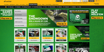 betfair homepage captured