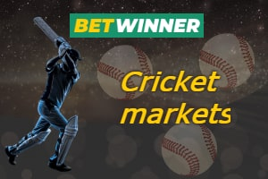 Cricket markets available at BetWinner