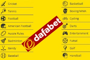 Other sports available at Dafabet