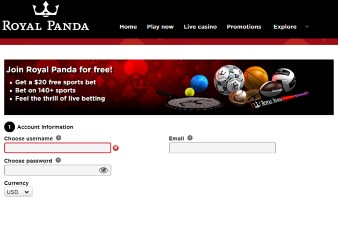 How to set your Royal Panda account?