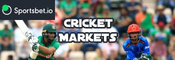 Cricket markets at Sportsbet.io