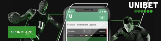 Unibet apps for both Android and iOS